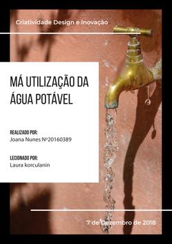 Má utilização da água potável