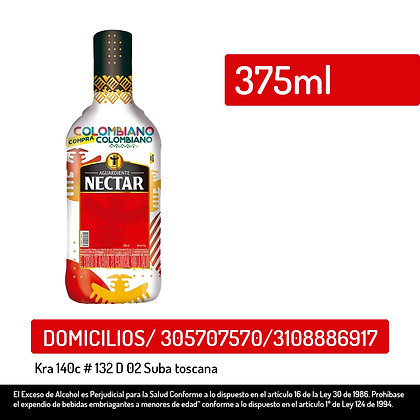 Aguardiente Néctar Rojo x 375 ml