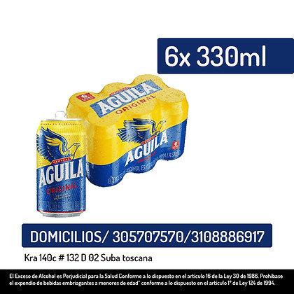 Cerveza Aguila  Lata 6 pack
