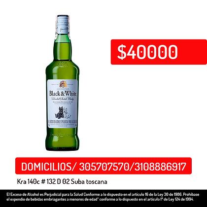 Whisky Black & White 700ml