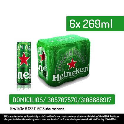 Heineken 6 pack*269ml