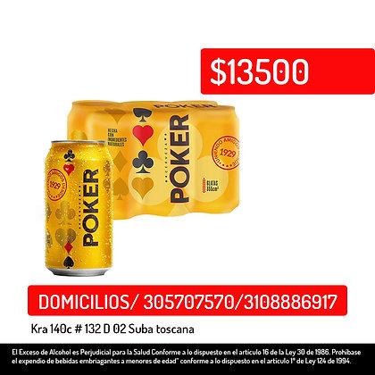 Cerveza Poker 6 pack *330ml