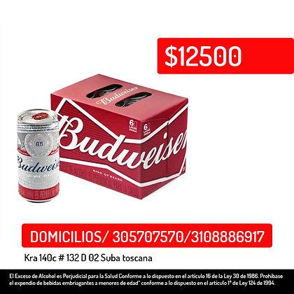 Cerveza Budweiser Lata x 6 Und x 269 Ml