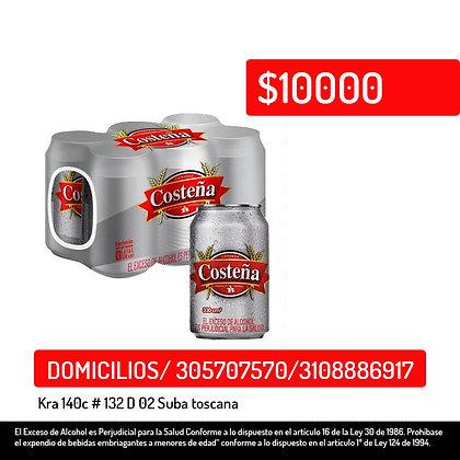 Cerveza Costeña Sixpack Lata x 330 ml