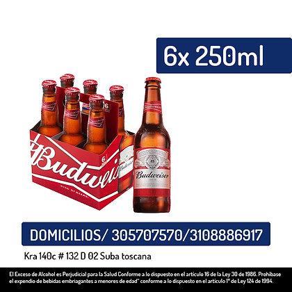 Cerveza Budweiser Botella X6Und X250Ml