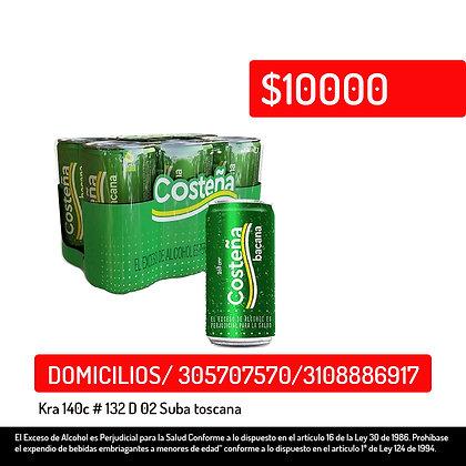 Cerveza Costeña Bacana lata x 6 und x 269ml