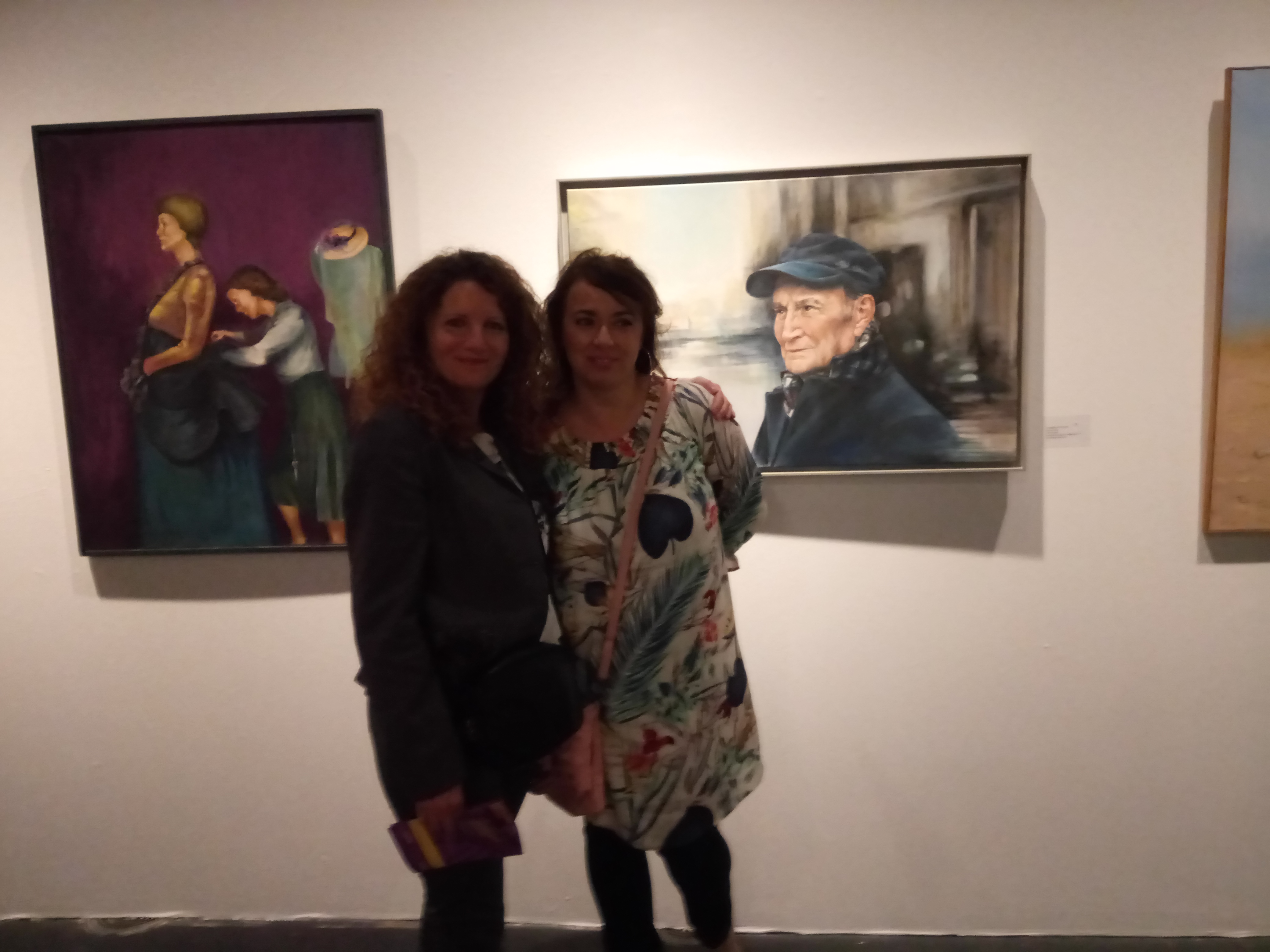 con Olga Corrales