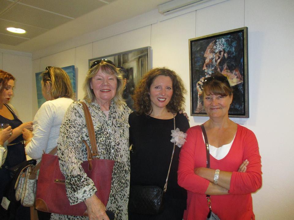 Junto a la pintora Ethel Bergman