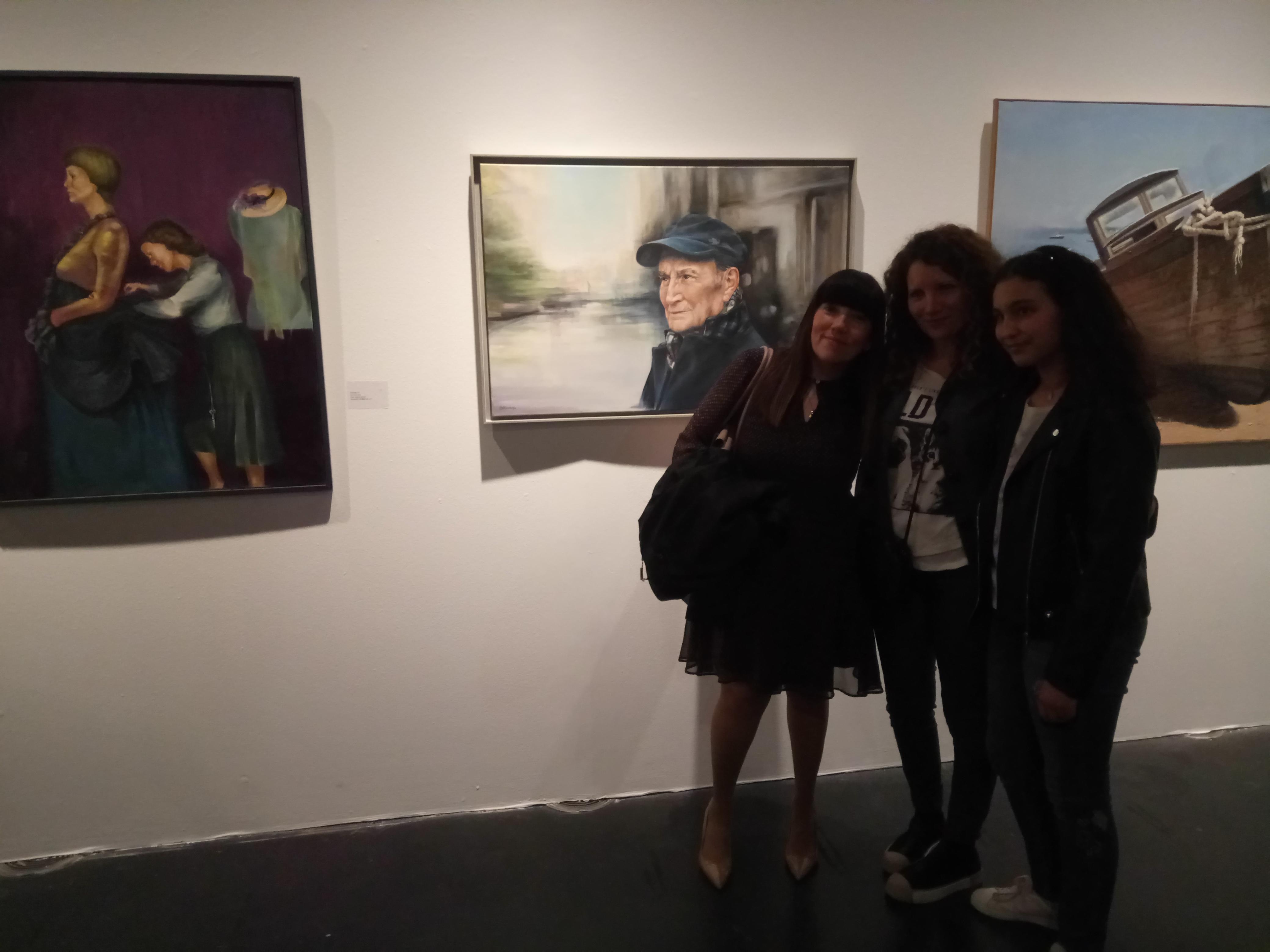 con Chus Laguna y Lucía