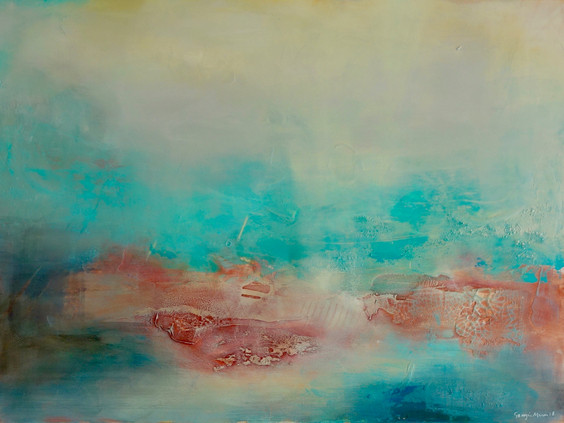 Tranquility,_Mixed_media_on_canvas,_90_x