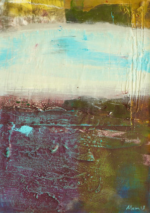 It_took_time,_mixed_media_on_board,_42_x