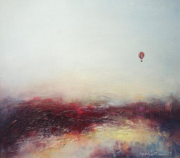 Hot air balloon over the Atacama