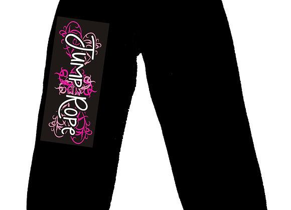 Jump Rope Black Capri Pants