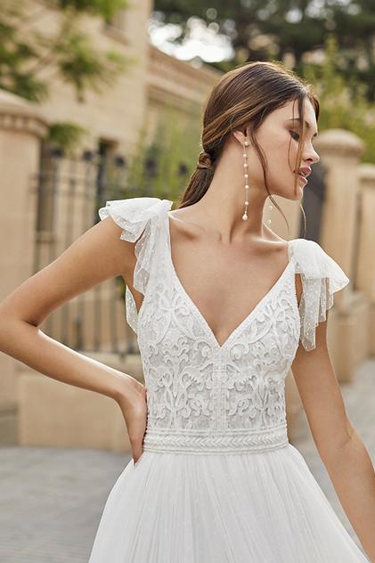 Pretty White Dress TIBET Rosa Clara Fron