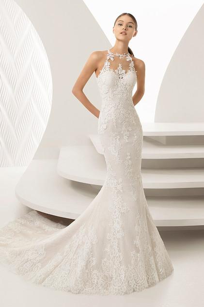 Pretty White Dress ABIRA Rosa Clara Full
