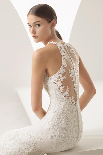 Pretty White Dress ABIRA Rosa Clara Back
