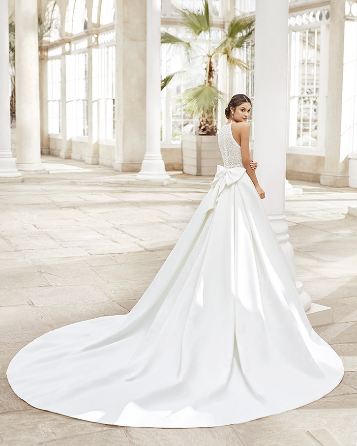 Pretty White Dress TYSAR Rosa Clara Full