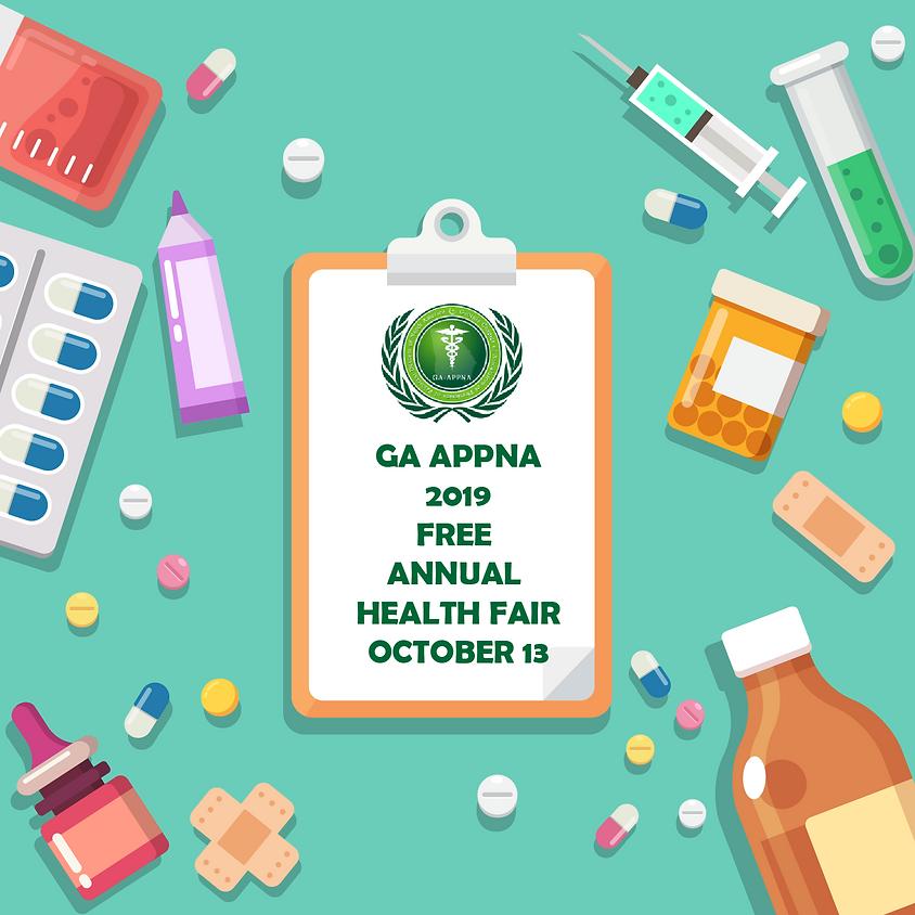GA APPNA 2019 Free Annual Health Fair