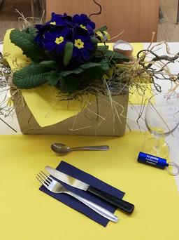 Tischdekoration GV März 2020