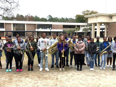 51 Darlington High School Students received placement in the District Honor Band