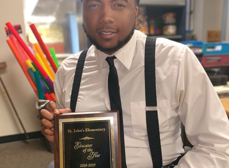 Assistant Director of Bands, Johnus Greenlee chosen for St. Johns Elementary Educator of the Year