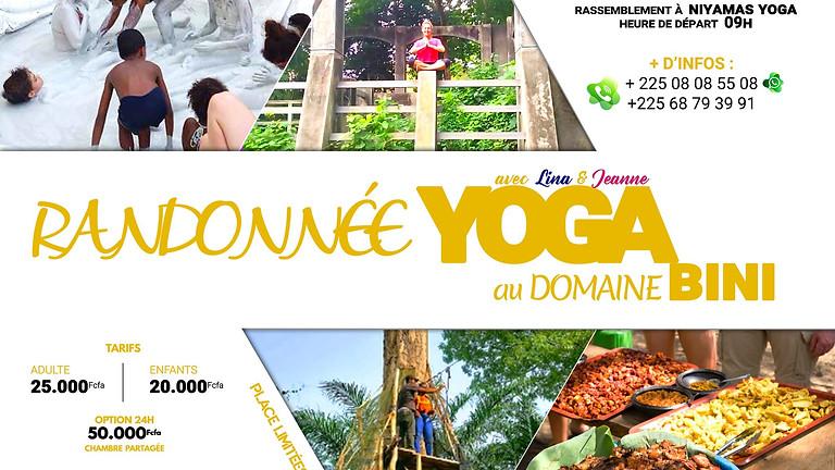 Randonnée yoga au domaine BINI