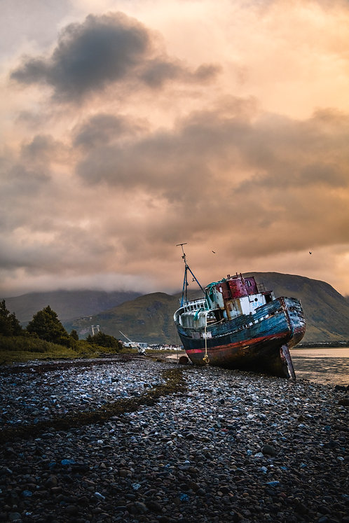Corpach shipwreck, Fort William, Scotland.