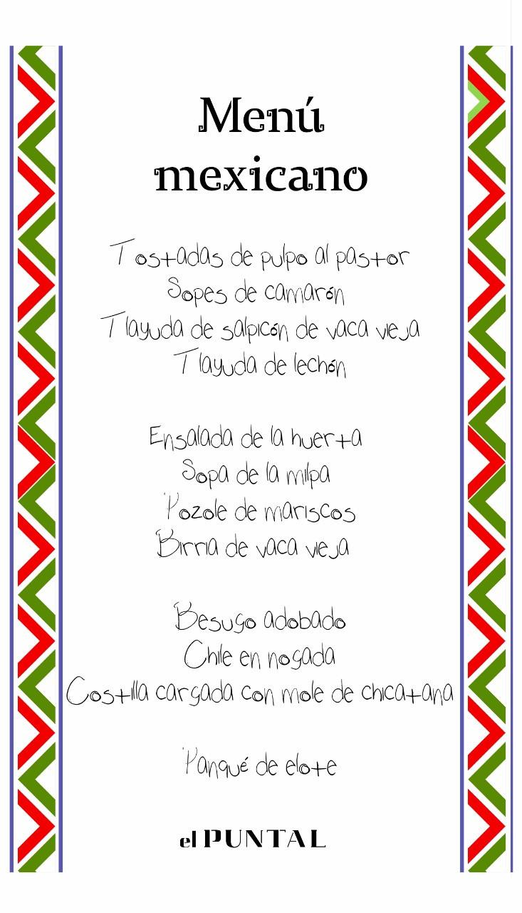 En El Puntal del Norte nos sumamos a los festejos de las fiestas patrias, ofreciéndoles una selección de platos que reflejan sabores de México.