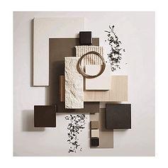 material mood board interior design