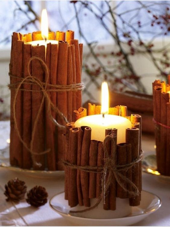 Candles for new year decoration