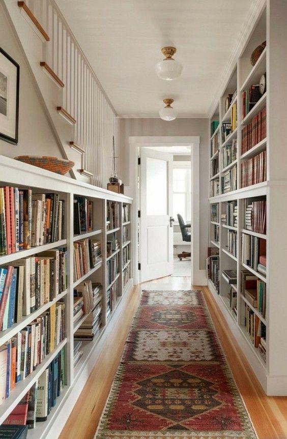 Hallway entrance library