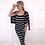 Thumbnail: MONICA Striped Dress & Cardigan Set