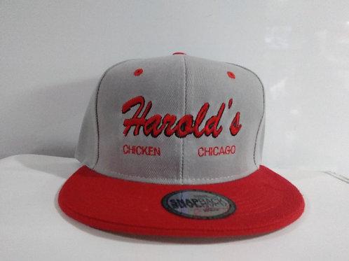 Gray & Red Harold's Chicken Baseball Hat