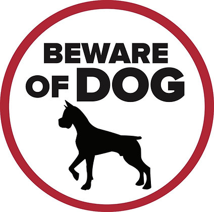 Screen Door Magnets - Beware of Dog