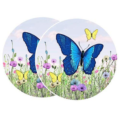 Retractable and ROLL UP Screen Door DECALS - Butterfly