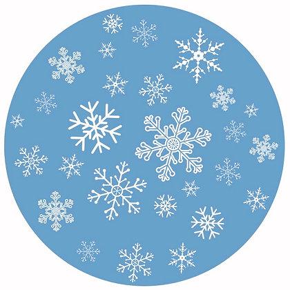 Glass Door Decals - Snowflakes