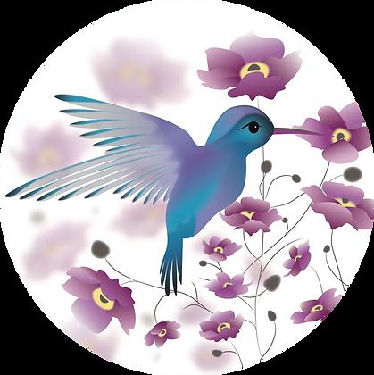 Glass Door Decals - Hummingbird