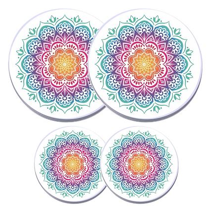 Electric Stove Burner Covers - Multicolored Mandala