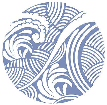 Glass Door Decals - Waves