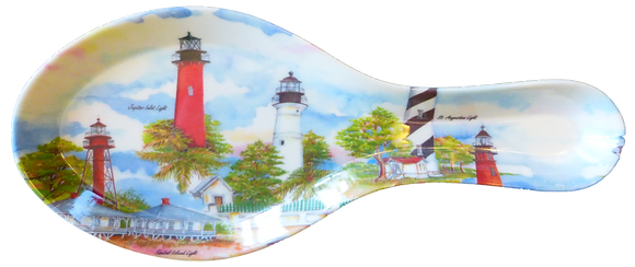 Lighthouses Red Spoon Rest