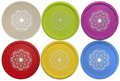 Wine Glass Covers -Set of 6 Mandala