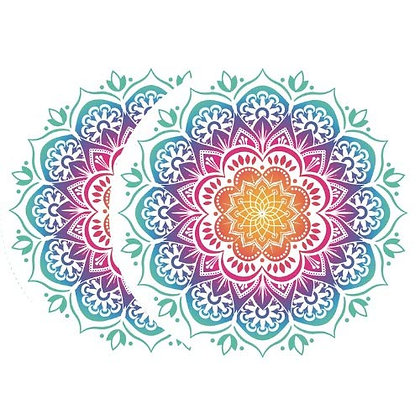 Retractable and ROLL UP Screen Door DECALS - Multicolored Mandala