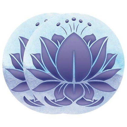 Retractable and ROLL UP Screen Door DECALS - Blue Lavender Lotus