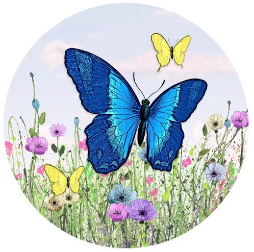 Screen Door Magnets Butterfly Blue Screen Door Magents Prevent