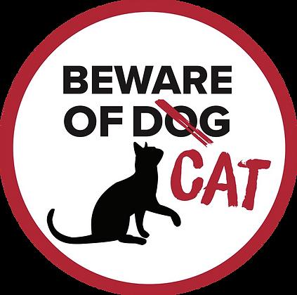 Screen Door Magnets - Beware of Cat