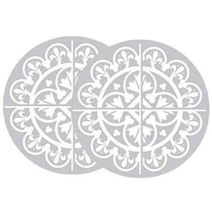 Retractable and ROLL UP Screen Door DECALS - Grey Tile