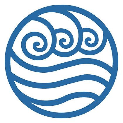 Glass Door Decals - Water Symbol Blue