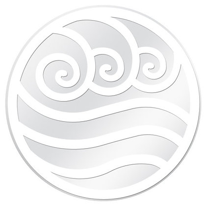 Glass Door Decals - White and Clear Water Symbol