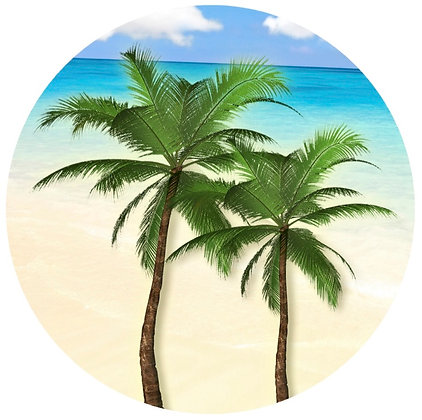 Glass Door Decals - Palm Trees