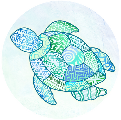 Glass Door Decals - Turtle
